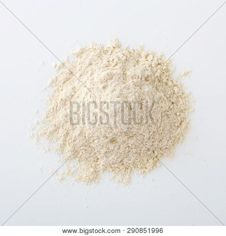Quinoa Flour On White Background