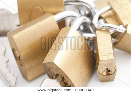 Bunch Of Padlocks