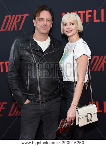 LOS ANGELES - MAR 18:  Donovan Leitch and Libby Mintz arrives for the Netflix 'The Dirt' Premiere on March 18, 2019 in Hollywood, CA