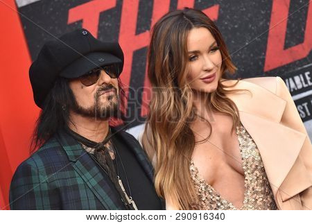 LOS ANGELES - MAR 18:  Nikki Sixx and Courtney Sixx arrives for the Netflix 'The Dirt' Premiere on March 18, 2019 in Hollywood, CA