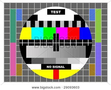 Padrão de teste de cor da TV