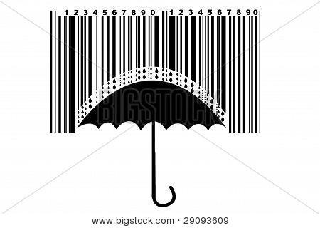 Umbrella And Barcode