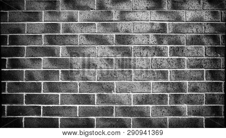 black and white brick wall texture. Architectural background and texture.