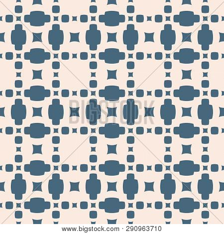 Vector Geometric Seamless Pattern. Simple Texture With Small Squares, Dots, Grid, Lattice. Abstract
