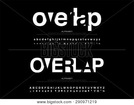 Modern Alphabet Font Overlap Style. Calligraphy Black Color Fonts Designs. Typography Font Uppercase