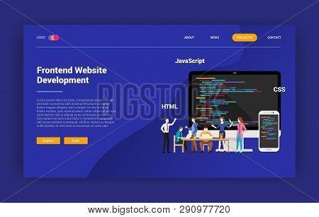 Frontend Website Programming Landing Page Campaign Design Website - Vector
