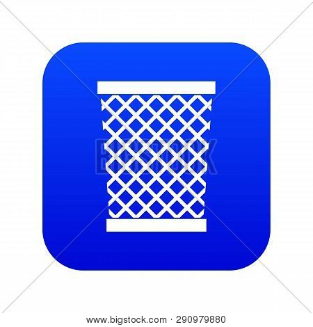 Wastepaper Basket Icon Digital Blue For Any Design Isolated On White Vector Illustration