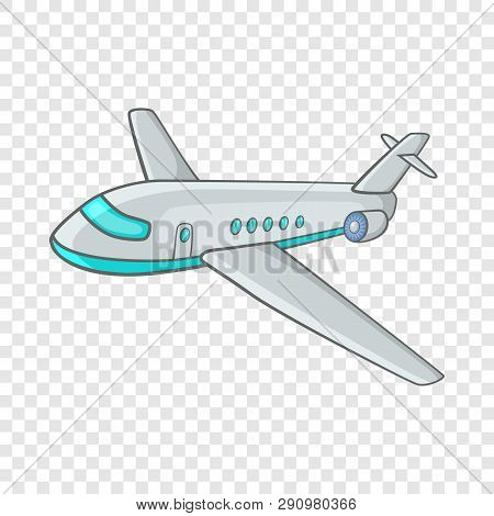Passenger Airliner Icon In Cartoon Style On A Background For Any Web Design