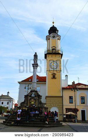 Banska Bystrica, Slovakia - September 14,2018: The Historical Center In Banska Bystrica