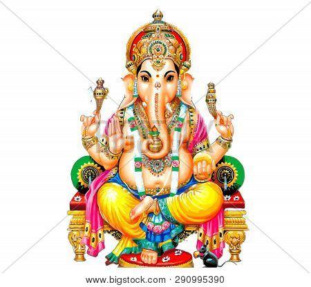 Seated  Ganesha Hindu Lord Faith Mythology Bless God Illustration  Asia Mouse