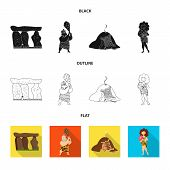 Vector illustration of evolution  and prehistory icon. Collection of evolution  and development  stock symbol for web. poster