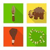 Vector design of evolution  and prehistory logo. Collection of evolution  and development  vector icon for stock. poster