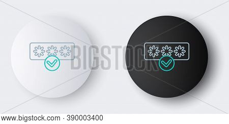 Line Password Protection And Safety Access Icon Isolated On Grey Background. Security, Safety, Prote