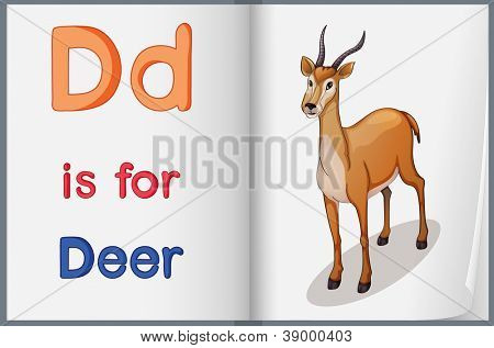 Worksheet teaching a letter and word with picture