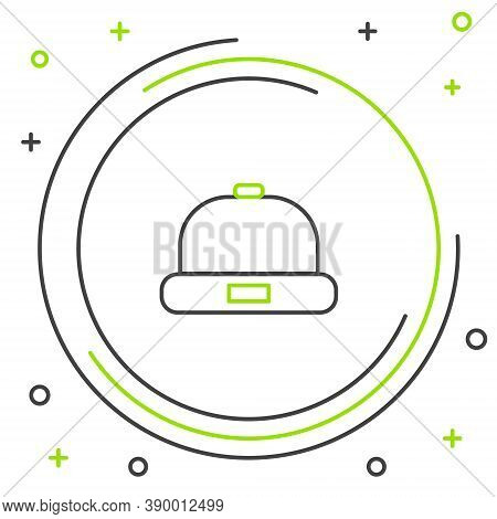 Line Beanie Hat Icon Isolated On White Background. Colorful Outline Concept. Vector