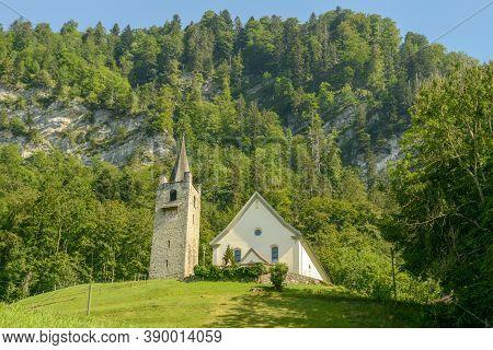 The Church Of Saint Niklausen On Switzerland