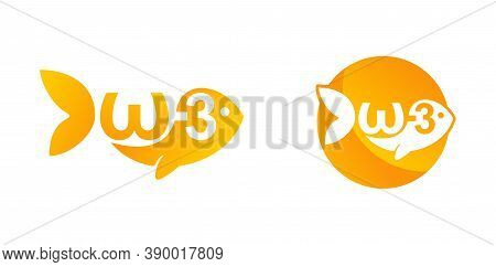 Omega-3 Icon  - Fatty Acid And Oils Emblem For Vitamines Packaging
