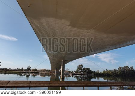 Sant Jaume D Enveja, Spain : 2020 September 28 : Sant Jaume D Enveja New Bridge Lo Passador Over Ebr