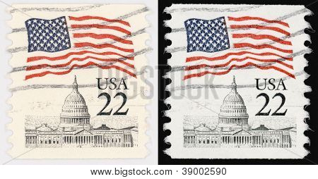 USA Postal Stamp of 22 Cents poster