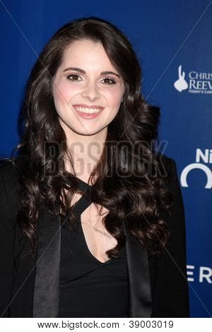 LOS ANGELES - NOV 11:  Vanessa Marano arrives at the Life Rolls On Foundation's 9th Annual Night By The Ocean at The Ritz-Carlton on November 11, 2012 in Marina del Rey, CA
