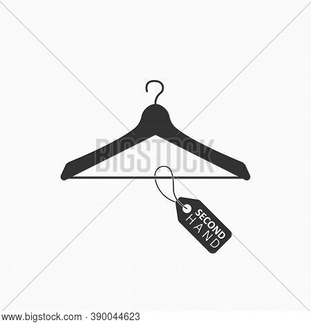 Flea Market Flat Icon. Second Hand Concept. Hanger Icon With Tag.