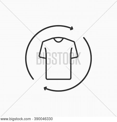 Second Hand Concept. Recycle Clothing Concept. Laundry And Dry Cleaning Icon.