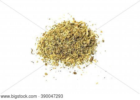 Makhorka. Analogue Of Tobacco. Close-up On A White Background.