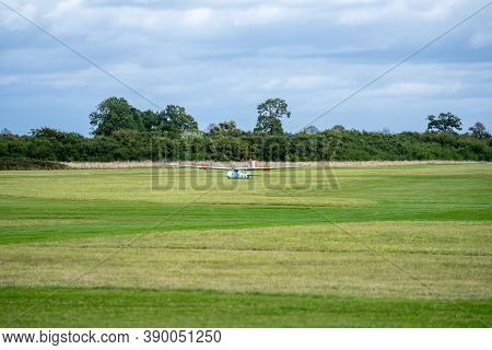 Old Warden, Bedfordshire, Uk, October 6, 2019. A Glider Is A Fixed-wing Aircraft That Is Supported I