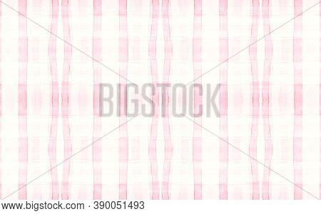 Girl Pajama Pattern. Wool Seamless Picnic Blanket. Watercolor Stripes For Tile Print. Elegant Pastel