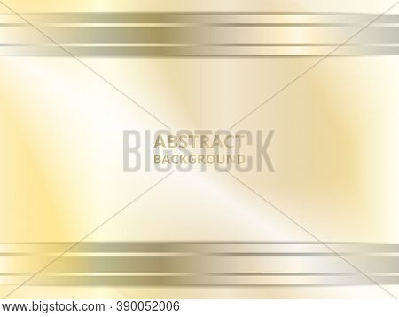 Abstract Metallic Gold Background Design With Geometric Steel Gradient Lines. Geometric Metallic Lin