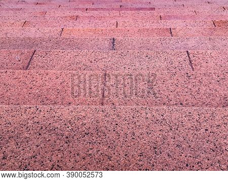 Top View Granite Stpes At Esplanade, Montevideo City, Uruguay