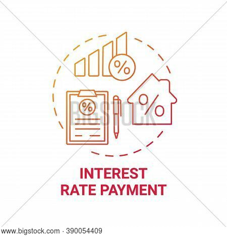 Interest Rate Payment Concept Icon. Mortgage Payment Element Idea Thin Line Illustration. Loan Paid