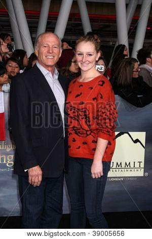 LOS ANGELES - NOV 12:  Frank Marshall and daughter arrive to the 'The Twilight Saga: Breaking Dawn - Part 2