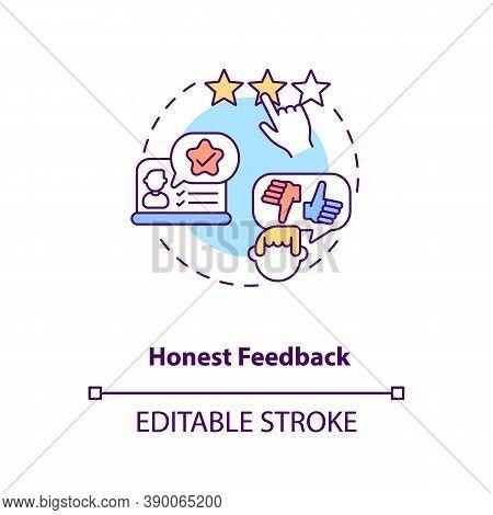 Honest Feedback Concept Icon. Influencer Marketing Benefit Idea Thin Line Illustration. Favourable O