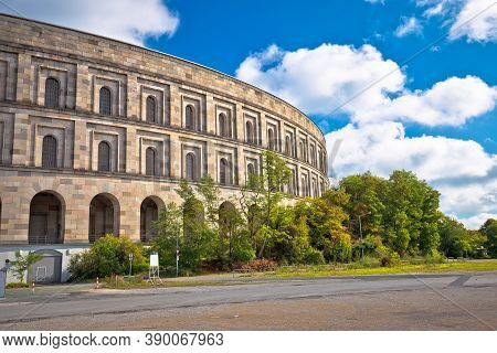 Reich Kongresshalle Or Congress Hall And The Documentation Center On Former Nazi Party Rally Grounds