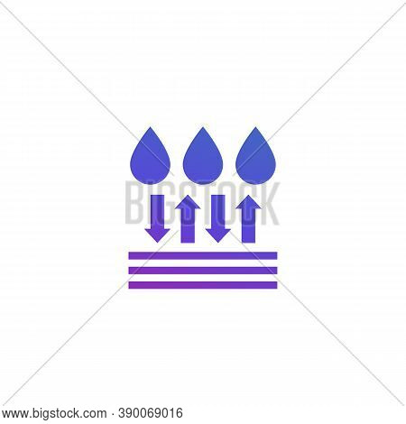 Water Resistant And Waterproof Icon, Vector, Eps 10 File, Easy To Edit