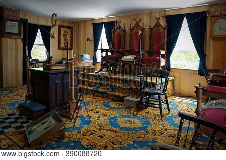Toronto, Canada - 06 21 2016: Interior Of Blackwood Masonic Lodge, A Part Of Exposition Of Black Cre