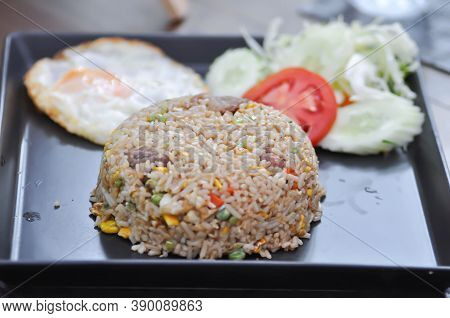 Stir Fried Rice Or Fried Rice With Egg And Vegetable