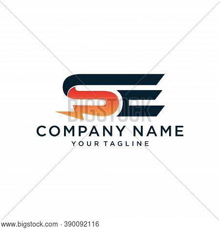 Se Energy Modern Logo Design Template,illustration Vector