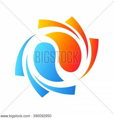 Combination Of Fire Symbol And Water Icon For Hvac Logo Design Vector Business Company