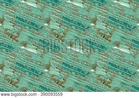 Seamless Distressed Paint Texture. Weathered Wall. Distress Effect. Green Decorative Poster. Nature