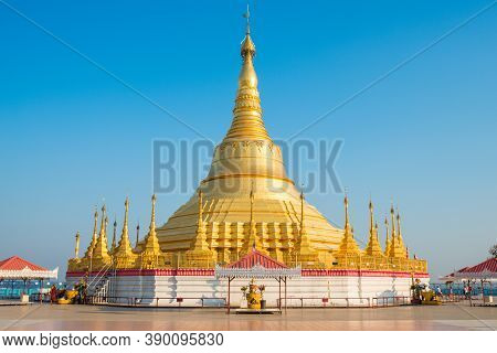 The Shwedagon Pagoda In Tachileik A Border Town In The Shan State Closed To Mae Sai District In Chia