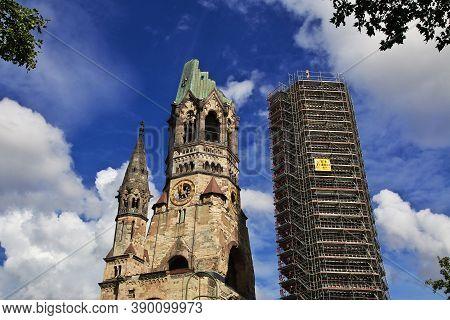 Berlin, Germany - 09 Sep 2015: Kaiser Friedrich Gedachtniskirche, Berlin, Germany