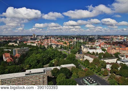 The Panoramic View On Hanover City, Germany