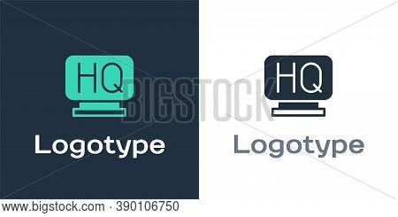 Logotype Military Headquarters Icon Isolated On White Background. Logo Design Template Element. Vect