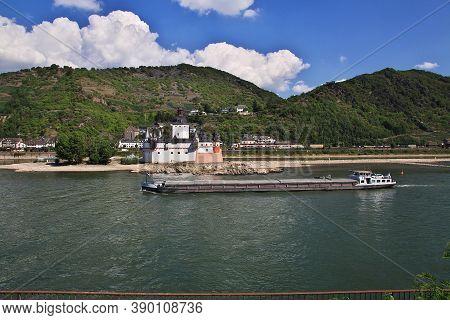 Burg Pfalzgrafenstein In Rhine Valley In West Germany