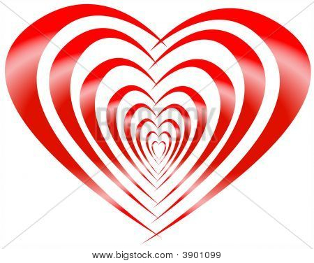 Red Striped Heart