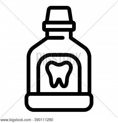 Care Tooth Mouthwash Icon. Outline Care Tooth Mouthwash Vector Icon For Web Design Isolated On White