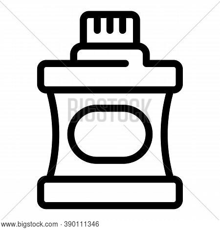 Breath Mouthwash Icon. Outline Breath Mouthwash Vector Icon For Web Design Isolated On White Backgro
