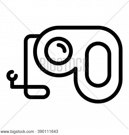Retractable Puppy Leash Icon. Outline Retractable Puppy Leash Vector Icon For Web Design Isolated On